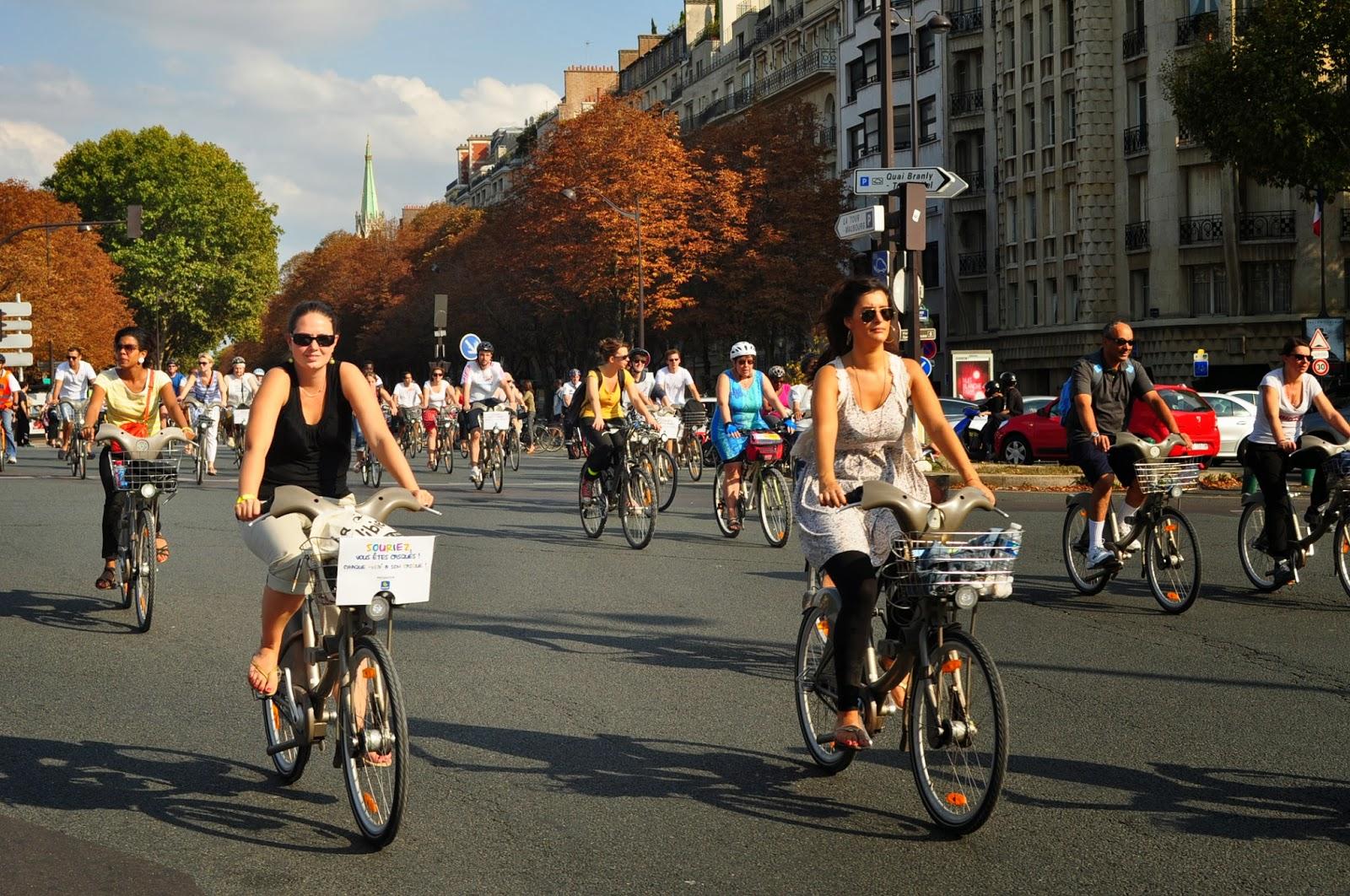 Ден на протест срещу градския трафик в полза на колоездачите.