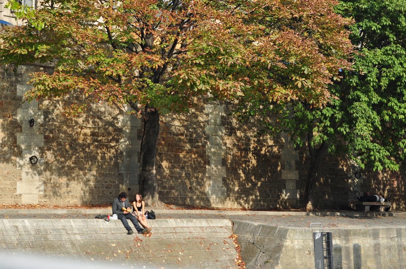 Парижани с радост се разхождат, ядат, четат, спят и прочие по кейвете на Сена без въобще да се притесняват от нечистотиите и от носещите се изпарения на тиня и ...урина.