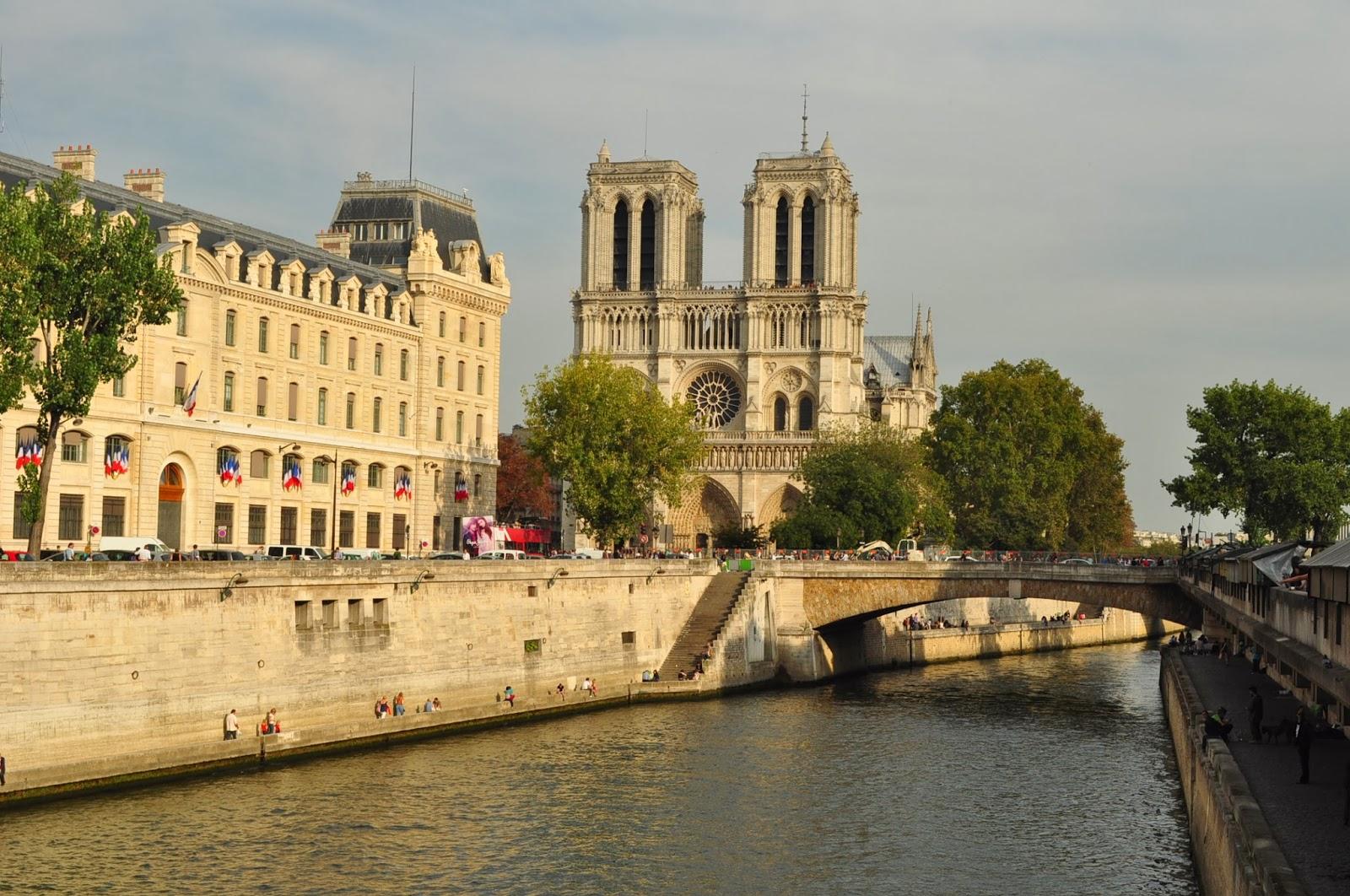 Класически кадър с всеизвестната Notre Dame de Paris.