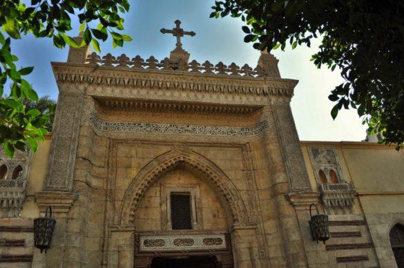 """Реставрираната коптска църква """"Св.Богородица"""" - древно средище на коптите в целия регион."""