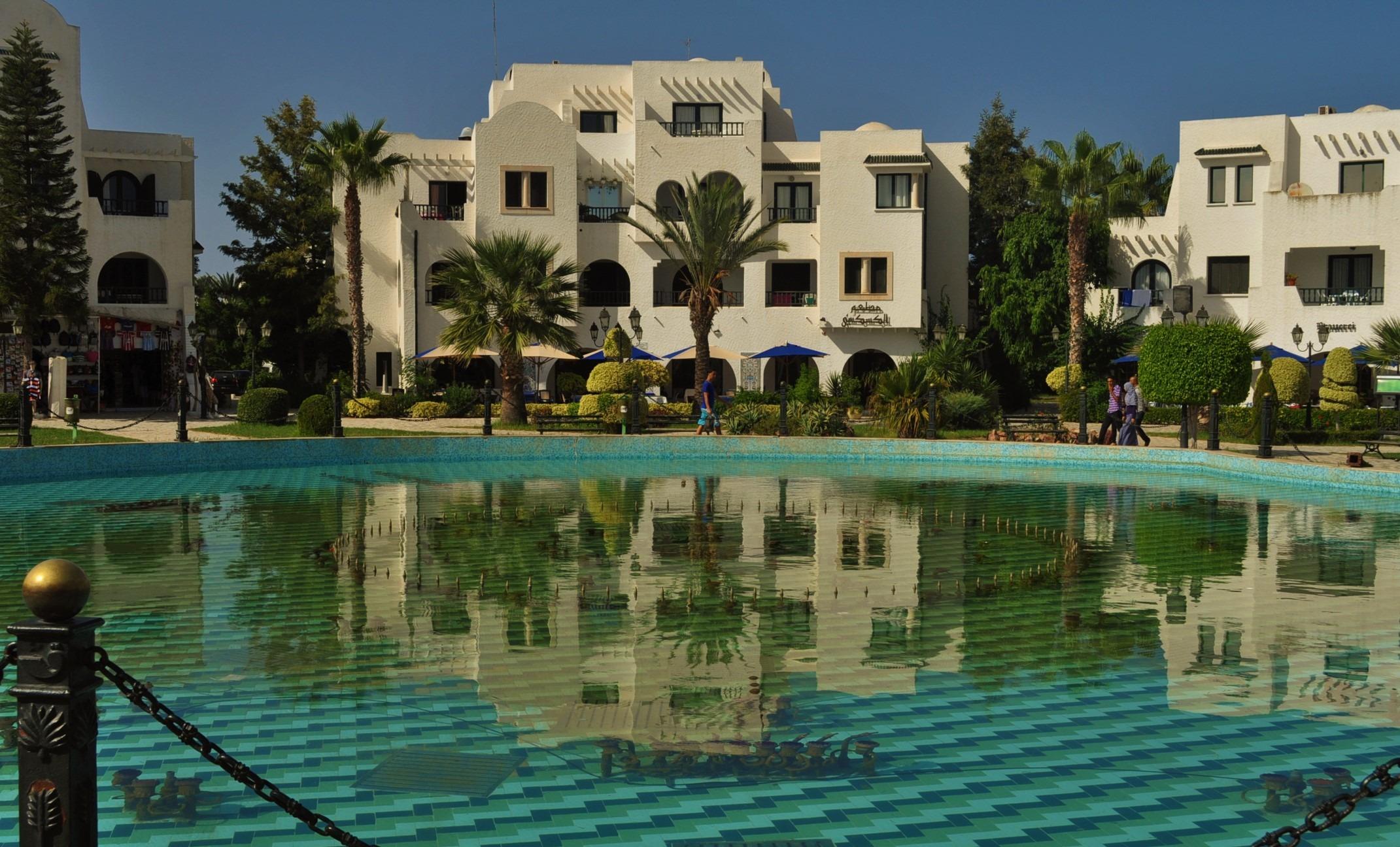 Пристанищното градче Ел Кантануи на Сус, където беше хотелът ни