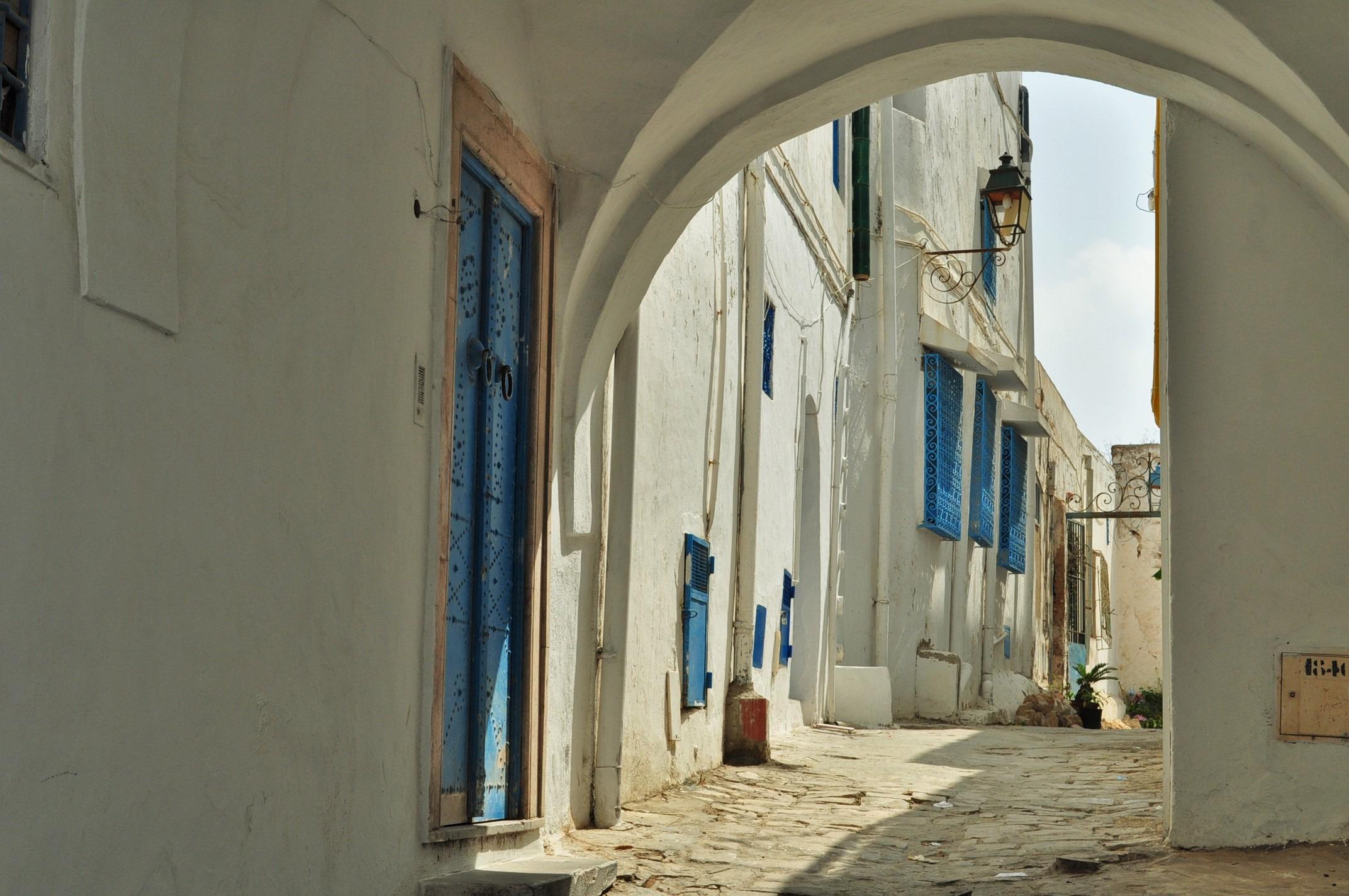 Намира се на хвърлей от столицата Тунис. Приказната му атмосфера се дължи на белите къщури с боядисаните в андалуско синьо балкони, еркери, врати и пр., по настояване на френски барон , живял тук през 20-те години на 20 век