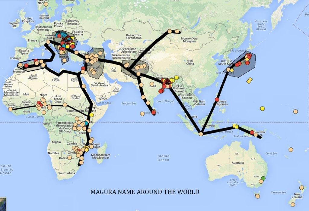 MAGURA NAME MAP