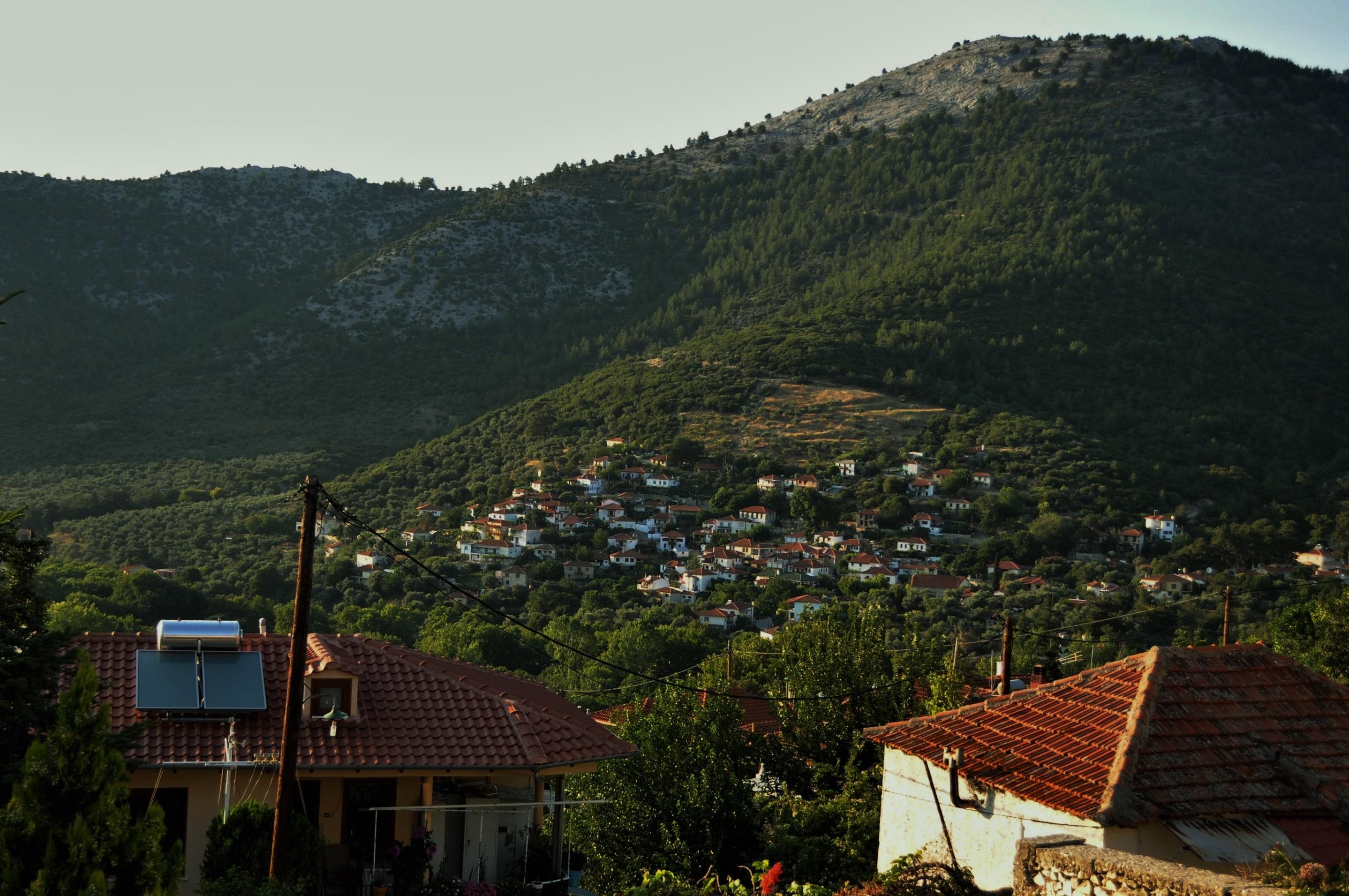 Рахони е още едно сладко планинско село в северозападната част на Тасос...