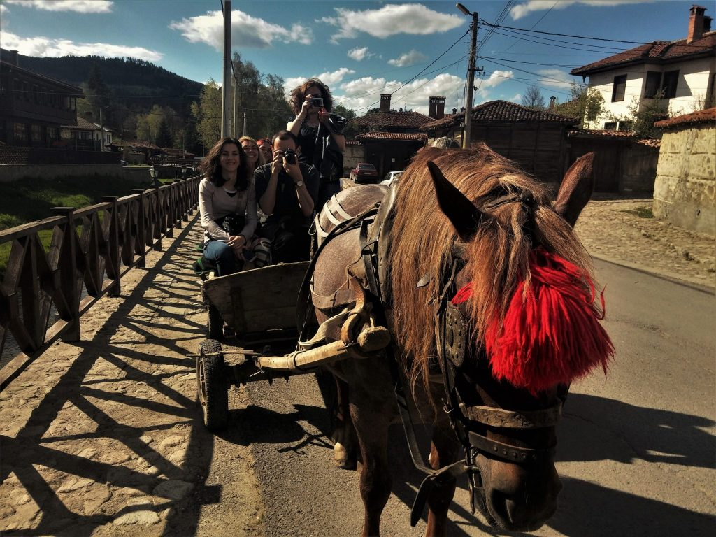 Koprivshtitsa balade avec chariot